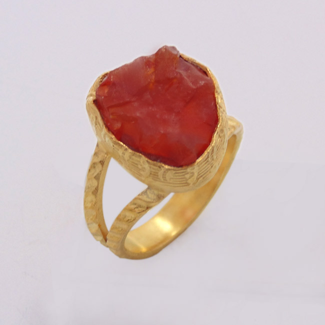 Carnelian Stone Ring